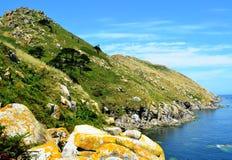 Monte Agudo (Cies-Inseln, Spanien) Stockbilder