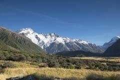 Monte al cocinero National Park que ofrece nieve, las montañas y las escenas tranquilas fotos de archivo libres de regalías
