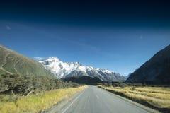 Monte al cocinero National Park que ofrece nieve, las montañas y las escenas tranquilas imagen de archivo libre de regalías