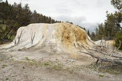 Monte alaranjado da mola em Yellowstone imagem de stock royalty free