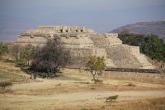 Monte Albán ancient site, Mexico stock photography