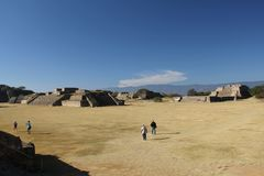 Monte Albán ancient site, Mexico Royalty Free Stock Photo