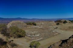 Monte Alban - οι καταστροφές του πολιτισμού Zapotec σε Oaxaca Στοκ Εικόνες