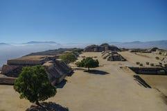 Monte Alban - οι καταστροφές του πολιτισμού Zapotec σε Oaxaca Στοκ Φωτογραφία