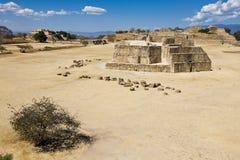 Monte Alban en Oaxaca, México Fotos de archivo