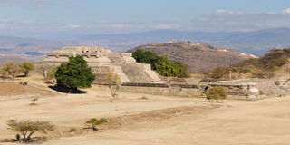 Monte Alban Mayan ruins in Mexico Royalty Free Stock Photography