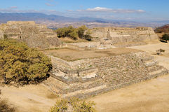 Monte Alban Mayan ruins in Mexico Royalty Free Stock Images