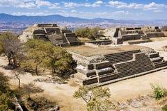 Monte Alban, Oaxaca, Mexico Stock Afbeelding
