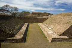 Monte Alban Oaxaca Mexico ancient ball game stadium huego de pelota Stock Image