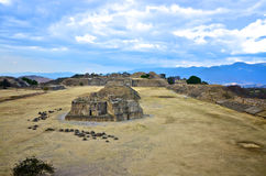 Monte Alban ruins, Mexico. Panoramic view of Monte Alban ruins, Mexico Royalty Free Stock Image