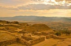 Monte Alban Ruins, Oaxaca, Mexico. Ruins of zapotec mexican ruins in Monte Alban Stock Image