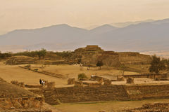 Monte Alban Ruins, Oaxaca, Mexico. Ruins of zapotec mexican ruins in Monte Alban Stock Photography