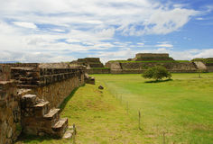 Monte Alban ruins, Oaxaca, Mexico Royalty Free Stock Photo