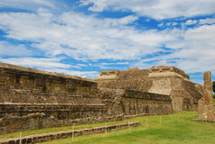 Monte Alban zapotec ancient ruins, Oaxaca, Mexico. Zapotec ancient ruins of Monte Alban. Archaeological site by Oaxaca, Mexico stock photos