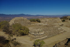 Monte Alban - the ruins of the Zapotec civilization in Oaxaca, M Stock Photography