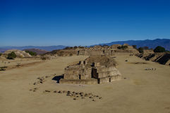 Monte Alban - the ruins of the Zapotec civilization in Oaxaca. Mexico Stock Photos