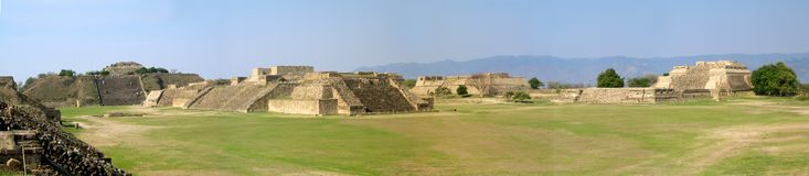 Monte Alban`s panoramic view stock photos