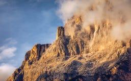 Monte Antelao è il più alta montagna nelle dolomia orientali i Fotografia Stock Libera da Diritti