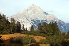 Monte Antelao, Tirolo del sud, montagne delle dolomia, Italia Fotografia Stock Libera da Diritti
