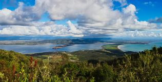 Monte Argentaro wide view royalty free stock photography