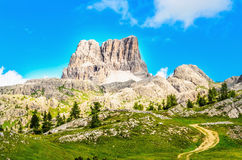 Monte Averau mointain in Dolomites, northern Italy Royalty Free Stock Image
