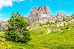 Monte Averau in Nuvolau Group, Dolomites, Italy Royalty Free Stock Photos