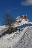 Monte Averau in winter, the highest mountain of the Nuvolau Group in the Dolomites, located in the Province of Belluno. Italy. Stock Photo