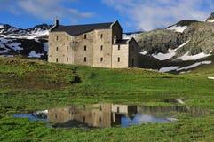 Monte Avic Natural Park, church. Aosta, Italy stock photography