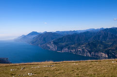 从Monte Baldo的顶端看法 免版税库存图片