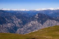 从Monte Baldo的顶端看法 免版税图库摄影