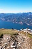 从Monte Baldo的顶端看法 库存照片