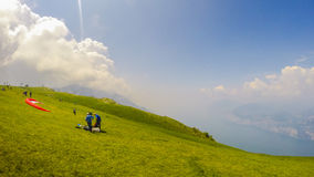 Monte Baldo Garda Italy. Paragliding Area stock image