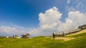 Monte Baldo Garda Italy. Paragliding Area royalty free stock photography
