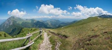 Monte baldo hiking trail Stock Photo