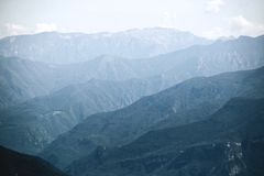 Monte Baldo. Italy. Beautiful view from the mountain to the foothills. stock photos