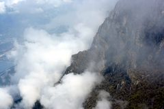 Monte Baldo peak in clouds Stock Photography