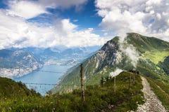Monte Baldo sjö Garda, Italien Royaltyfri Bild