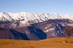 Monte Baldo in Winter - Veneto Italy Stock Image