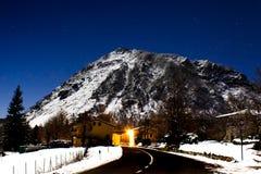 Monte Beni Sotto Le Stelle fotografia stock