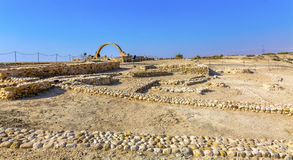 Monte Bethany Beyond Jordan do ` s de Elijah do arco de John Paul II fotos de stock