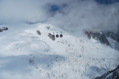 Monte Bianco勃朗峰 免版税库存图片