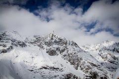 ` Monte Bianco-` Ansicht von der panoramical Terrasse von Punta Helbronner Lizenzfreies Stockbild