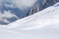 Monte Bianco il Monte Bianco Fotografie Stock Libere da Diritti