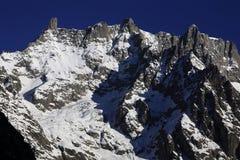 Monte Bianco, Italy. Dente del Gigante, Monte Bianco, Courmayeur, Italy stock photos