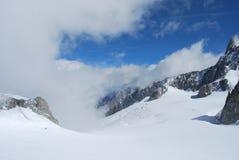 Monte Bianco Mont Blanc Arkivbilder