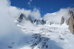 Monte bianco mont blanc. Ghiacciaio Stock Images