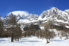 Monte Bianco mountains Royalty Free Stock Images