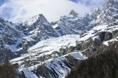Monte Bianco mountains Stock Photography