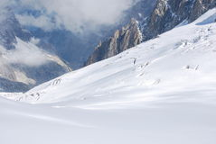 Monte Bianco o Monte Branco Fotos de Stock Royalty Free