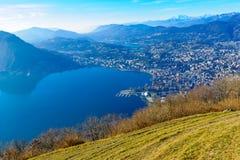 Monte Bre, près de Lugano Photo stock
